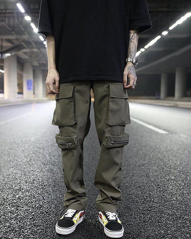 《2色》ビッグポケットサイドスナップカーゴジョガーパンツの画像4